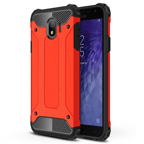 Military Defender Shockproof Case for Samsung Galaxy J4 - Red